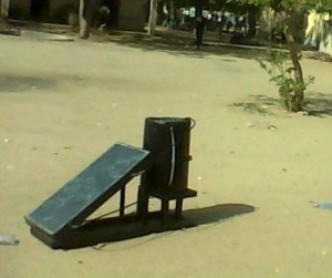 """Final Year Student Of """" UNIMAID """" Constructs A """" Solar Water Heater """" [See Photos]"""